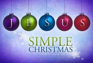 Simple Christmas Jesus